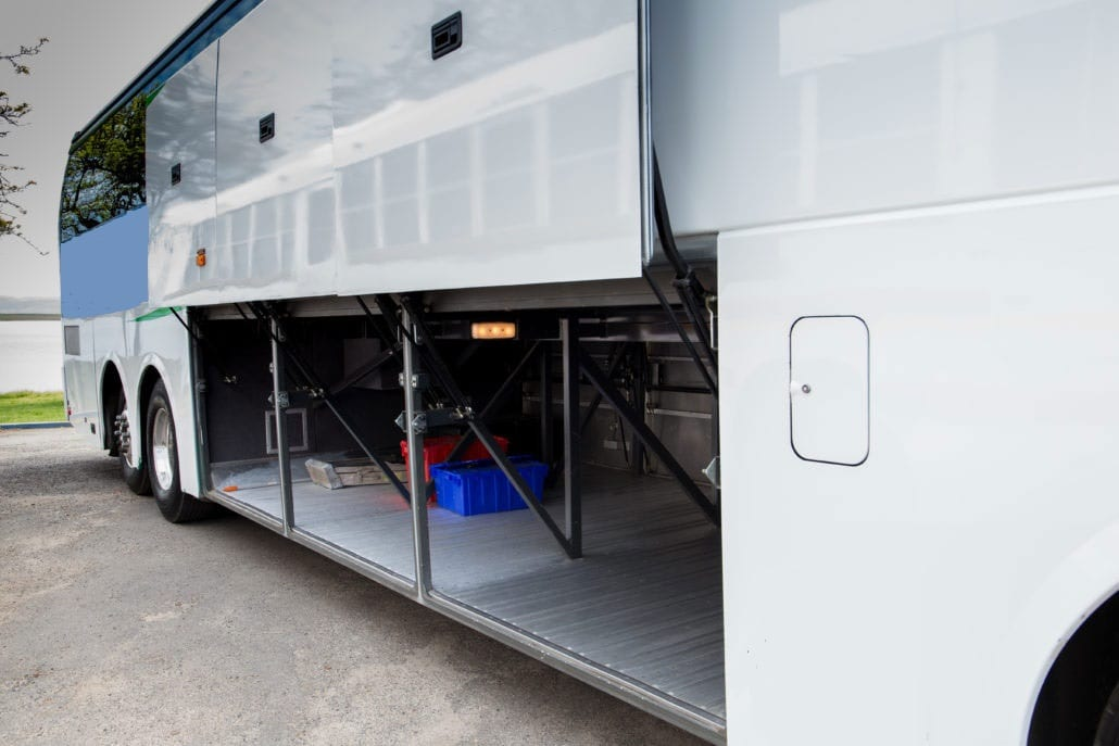 Long Island Coach Bus - Charter Bus Underbelly Storage